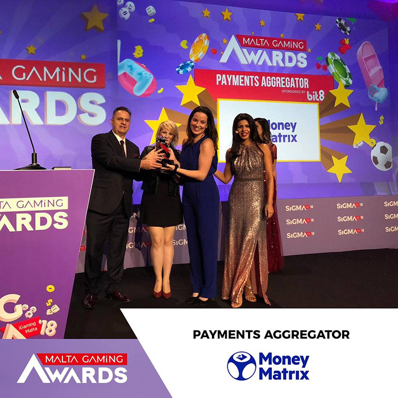 MoneyMatrix wins Best Payments Aggregator at Malta Gaming Awards 2018